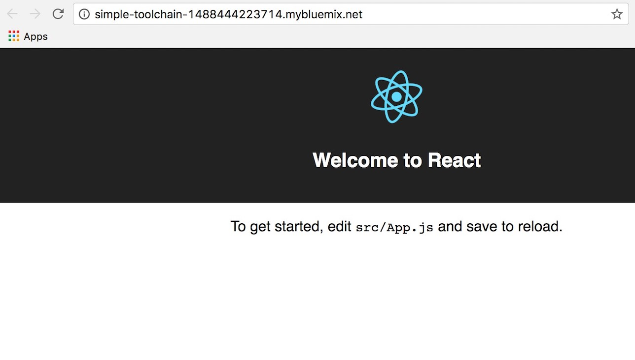 React Setup on Bluemix in 10 Minutes